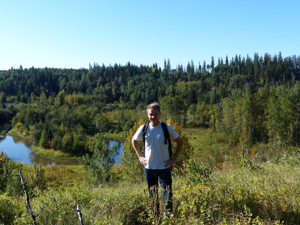 Umweltschutz statt Seminararbeit: Robert verbrachte ein Semester im kanadischen Edmonton. Foto: Privat