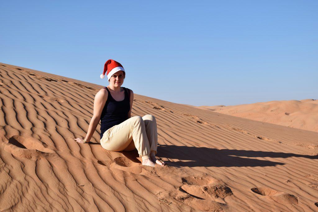 Weihnachten in der Wüste: Salome verbrachte ein Semester in Maskat, der Hauptstadt des Oman. Foto: Privat