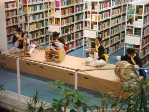 Das koreanische Perkussionsensemble 'Chon Dung Sori'