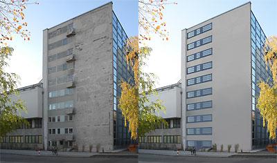 Magazinturm Ist-Zustand - Sollzustand nach der Restaurierung
