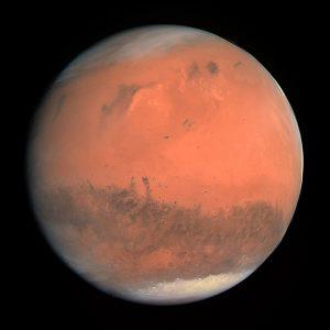 Der Mars aus Sicht der OSIRIS Kamera an Board von Rosetta (2007). Credit: ESA & MPS for OSIRIS Team MPS/UPD/LAM/IAA/RSSD/INTA/UPM/DASP/IDA, 2007, CC BY-SA 3.0 IGO