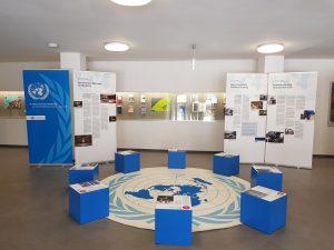 Die Wanderausstellung im Foyer der UB (Bildquelle: Marc Spieseke)