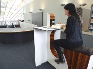 Fahrradergometer in der Philologischen Bibliothek (Bildquelle: Janet Wagner)