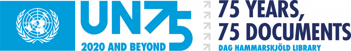 """75 Jahre – 75 Dokumente"""