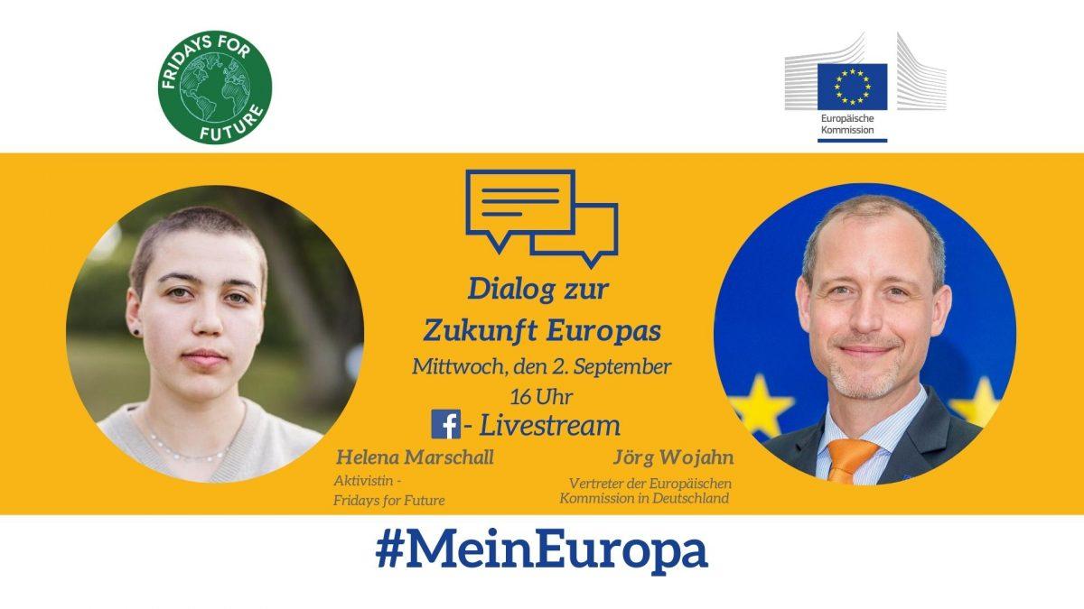 Livestream: Mein Europa – junge Menschen und ihre Vorstellungen zur Zukunft Europas