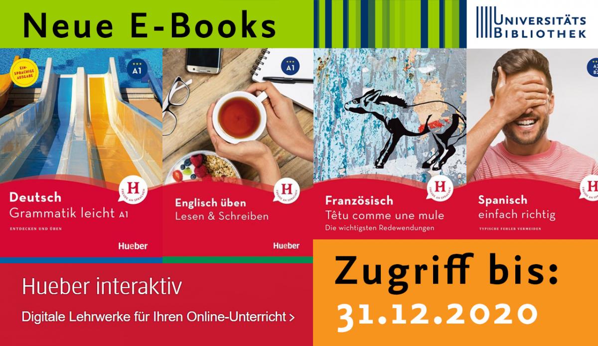 Über 100 sprachwissenschaftliche E-Books vom Hueber Verlag lizenziert