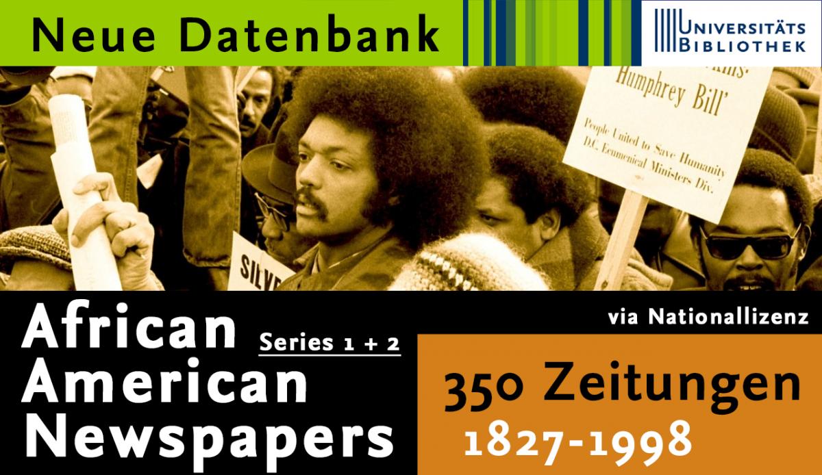 "Zugriff auf ""African American Newspapers""-Datenbanken"