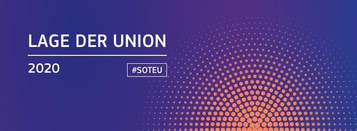 16. September 2020: Rede zur Lage der Europäischen Union 2020