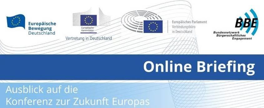Online Briefing: Ausblick auf die Konferenz zur Zukunft Europas