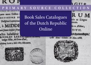 """Neue Nationallizenz für niederländische """"Book Sales Catalogues Online"""""""