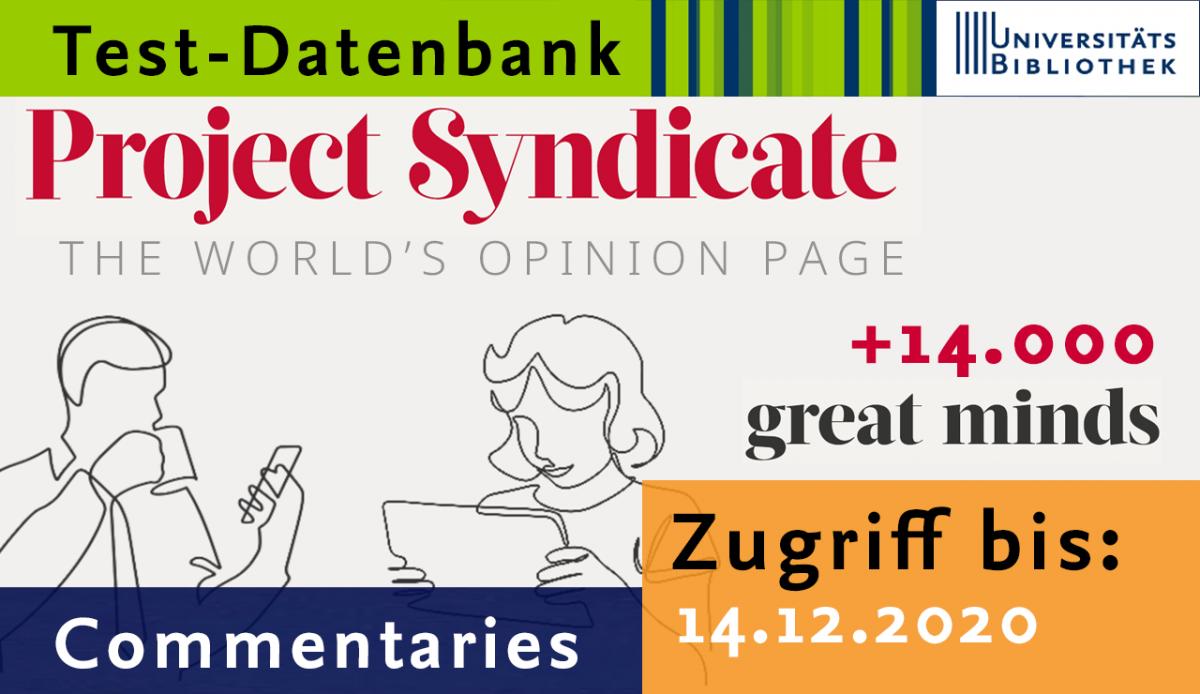 "Testzugang für Website ""Project Syndicate"""