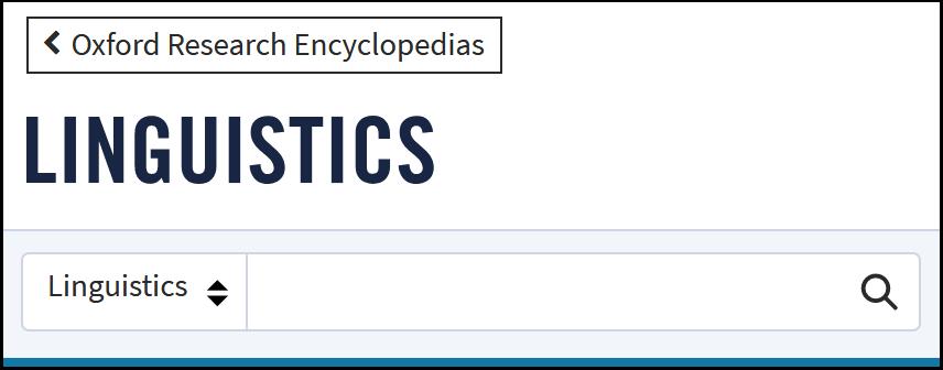 """Oxford Research Enyclopedia of Linguistics"" lizenziert"