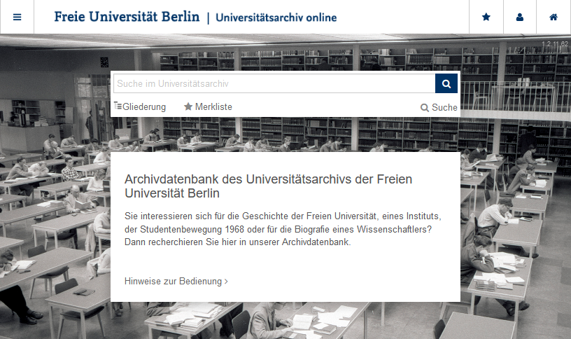 Neue Archivdatenbank des Universitätsarchivs