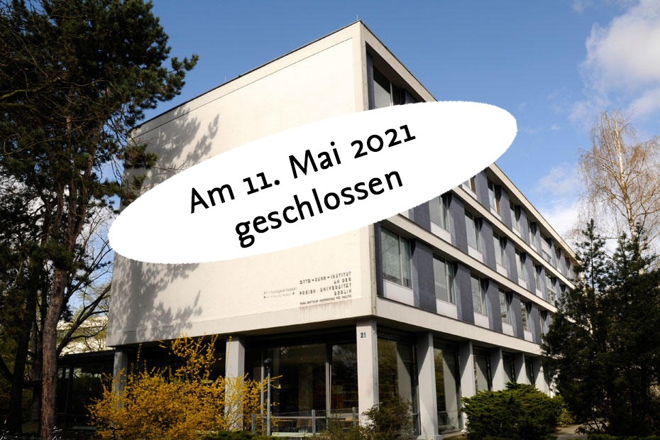 Bibliothek für Sozialwissenschaften und Osteuropastudien am 11. Mai geschlossen