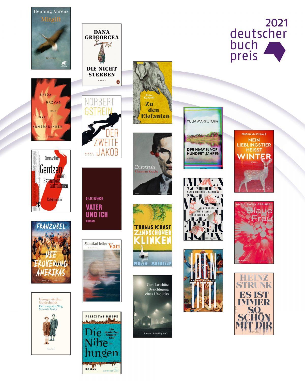 Longlist für den Deutschen Buchpreis 2021 veröffentlicht