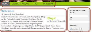 Blogbereiche