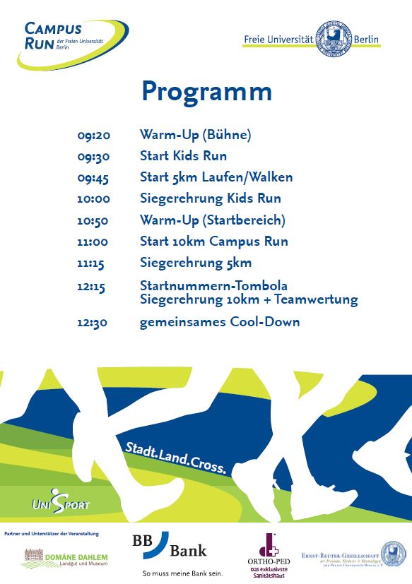 DER RAHMEN IST PROGRAMM +++ – Campus Run – 01.07.2018 – 10 km / 5 km ...