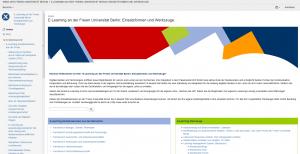 Startseite des Wikis zum E-Learning an der Freien Universität Berlin