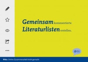 Gemeinsam kommertierte Literaturlisten erstellen #1