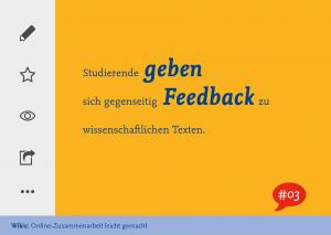 Studierende geben sich gegenseitig Feedback