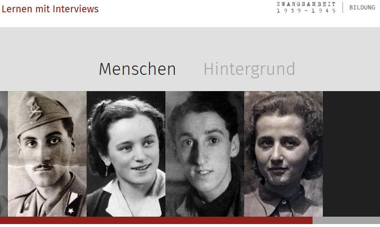 """Fortbildung zur Web-App: """"Lernen mit Interviews. Zwangsarbeit 1939-1945"""""""