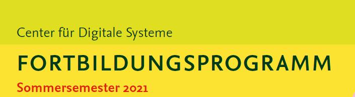 Flyer zum Fortbildungsprogramm SoSe 2021