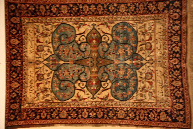 Ein Perserteppich im Teppichmuseum