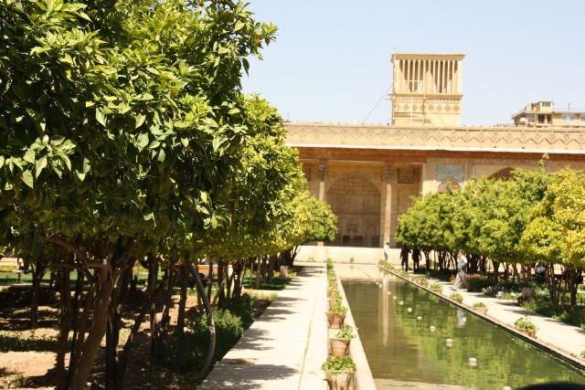 Orangengarten in der zitadelle von Shiraz