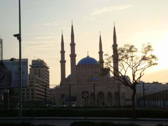 Beirut - Moschee am Märtyrerplatz