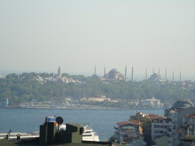 Blick aufs Goldene Horn - Topkapi-Palast, Hagia Sophia und Blaue Moschee