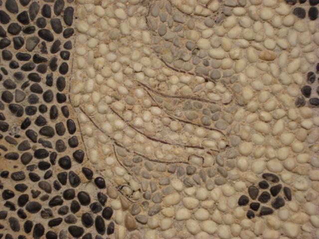 Kieselmosaik aus Pella - Detail