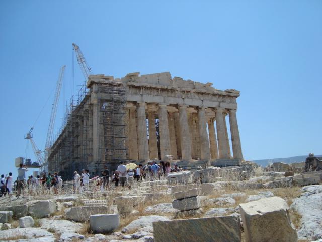 Auf der Akropolis von Athen - Parthenon