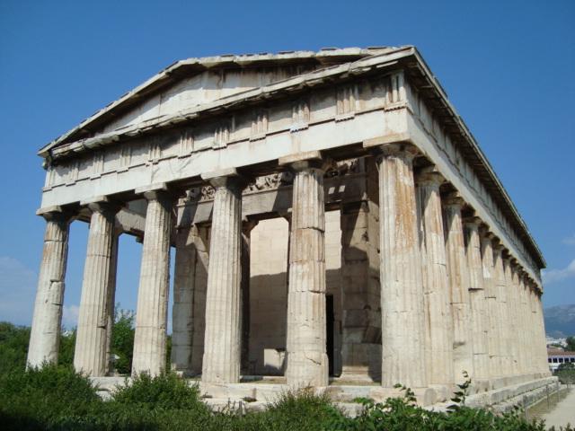 Auf der Agora von Athen - Tempel der Athena E. und des Hephaistos