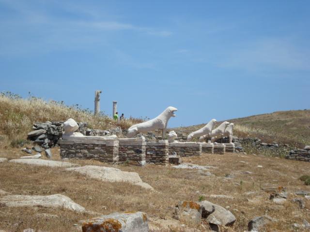 Die Löwen der Naxier auf Delos