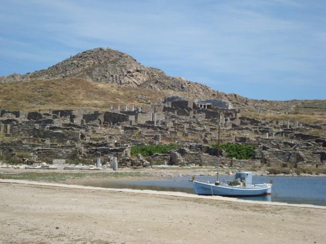 Auf Delos - Blick auf die Reste von Wohnhäusern