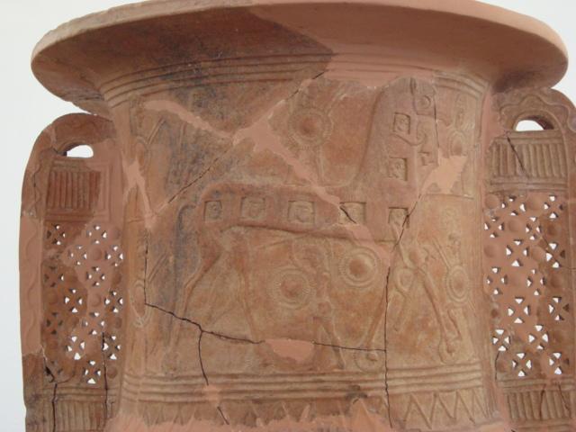 Eine der wenigen Darstellungen des Trojanischen Pferdes