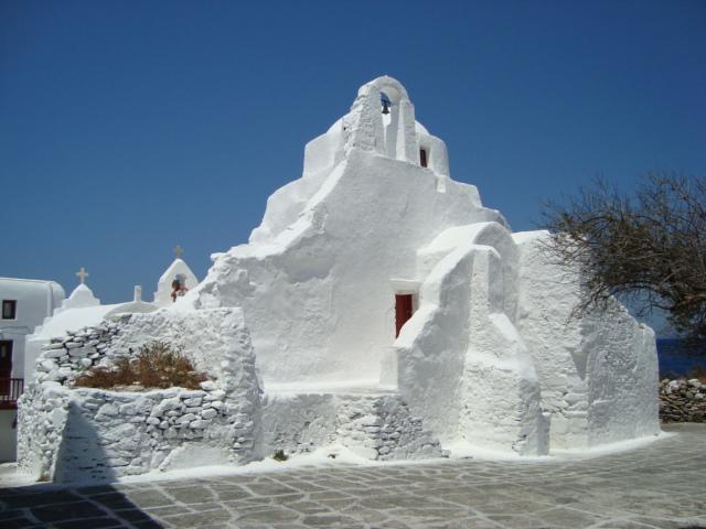 Kirche auf Mykonos