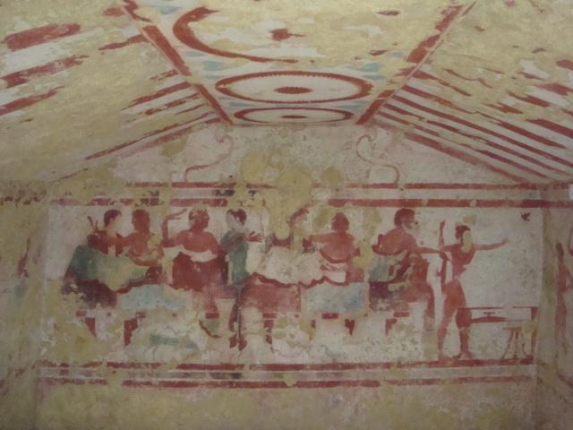 Tarquinia - Fresken in einer Grabkammer