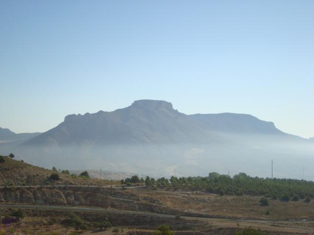 Blick vom Abri de los Lletreros in die südspanische Landschaft