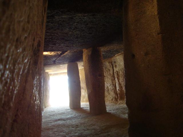 Antequera - Megalithgrab von Innen