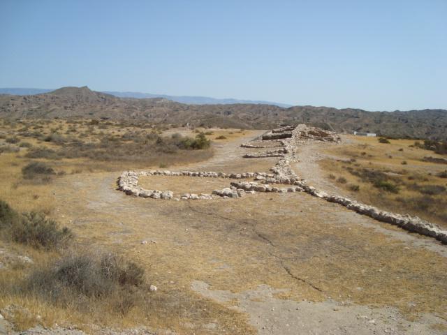 Los Millares - Siedlungsmauer mit Bastionen