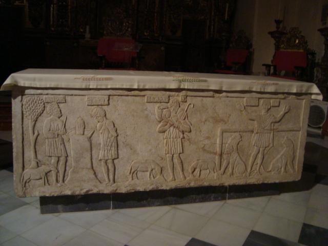 Frühchristlicher Sarkophag in Ecija
