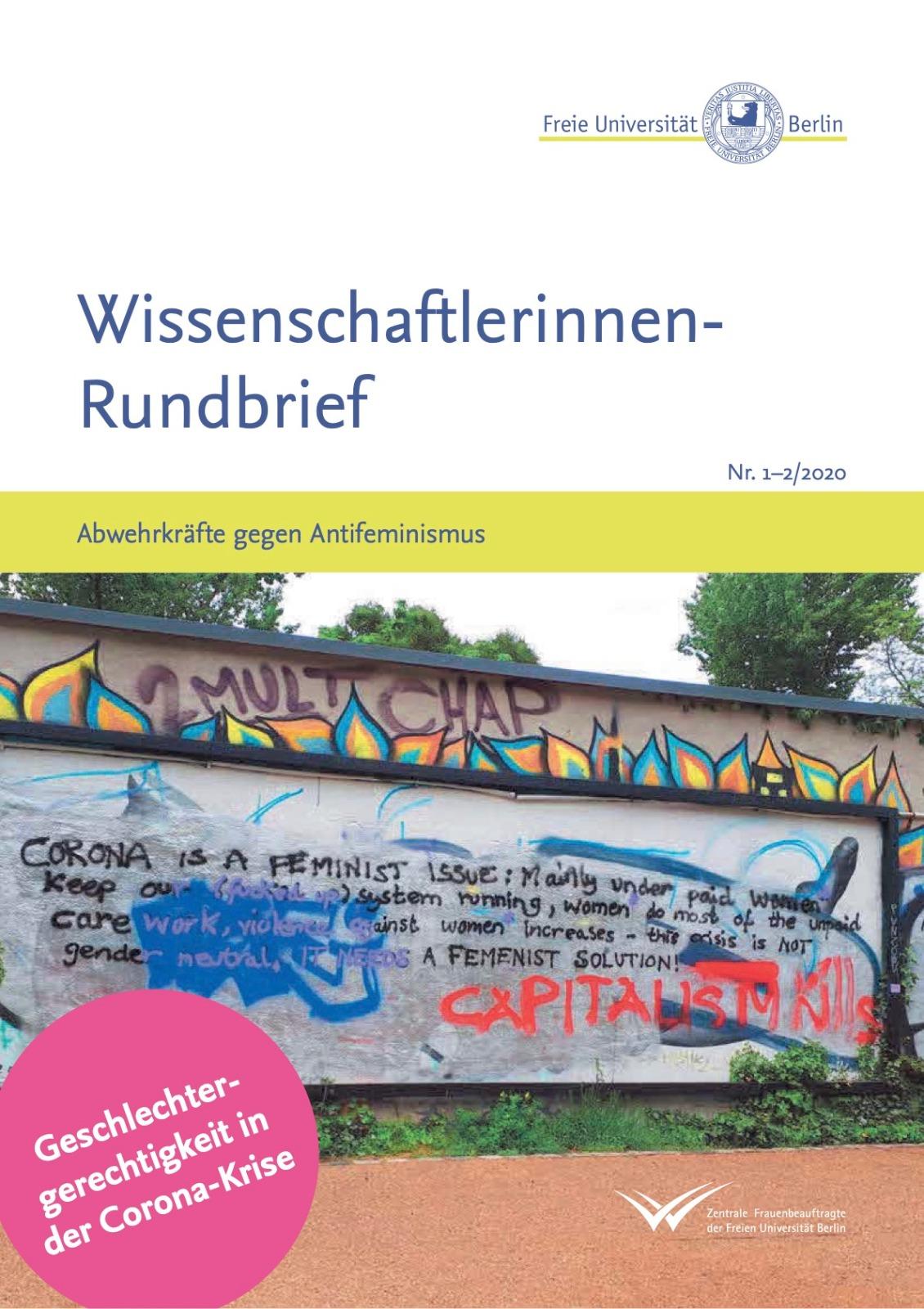 """""""Abwehrkräfte gegen Antifeminismus"""" – Neuer Wissenschaftlerinnen-Rundbrief erschienen!"""