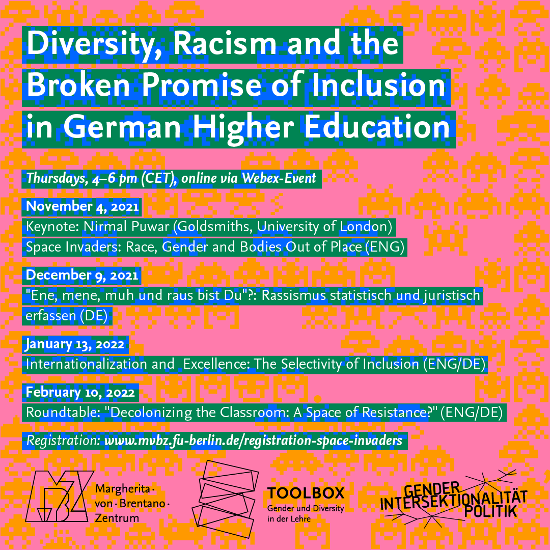 """Event series """"Diversity, Racism and the Broken Promise of Inclusion in German Higher Education"""""""