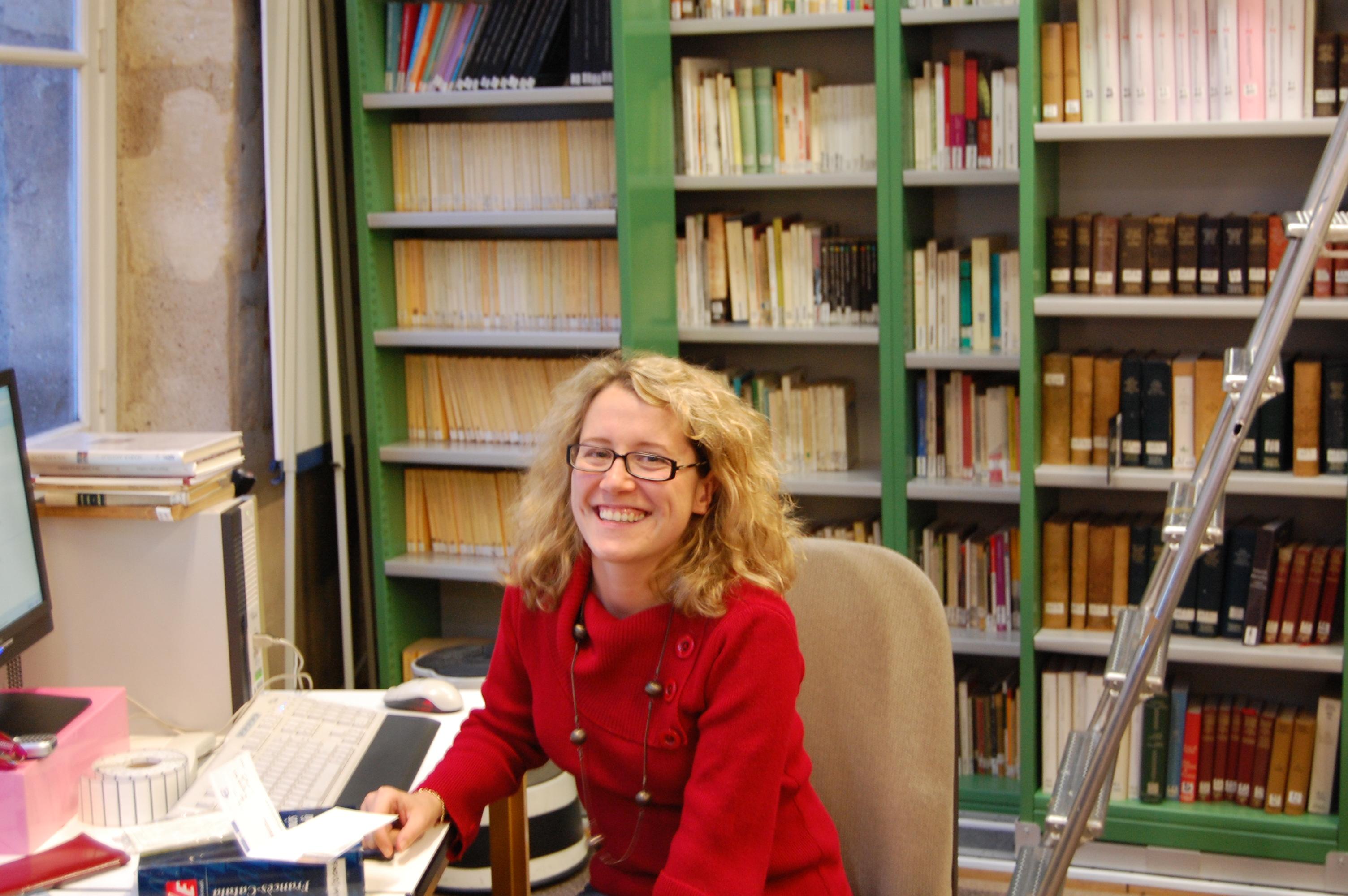 La Laura Sahun a son lloc de treball